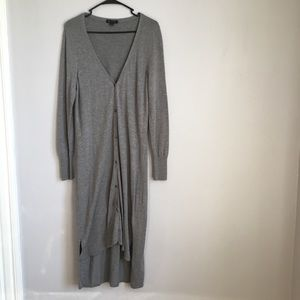 H by Halston Heather Grey Duster Cardigan